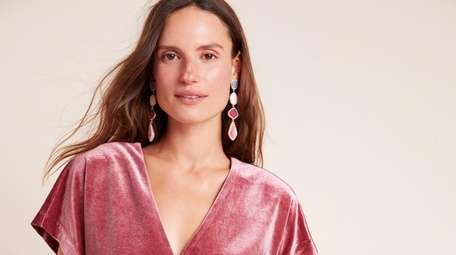 Frock on: Velvet is a holiday staple and