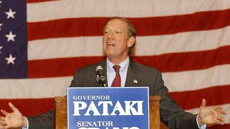 Gov. George Patakin speaks at a Republican rally