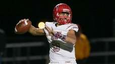 Connetquot's Drew Guttieri looks to pass in the