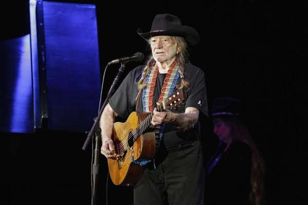 Country music icon Willie Nelson performs during a