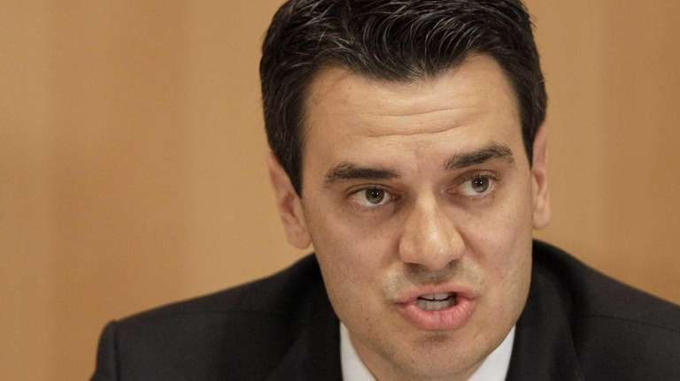Kevin Yoder participates in a debate in Overland