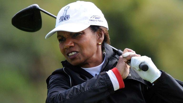 Former U.S. Secretary of State Condoleezza Rice tees