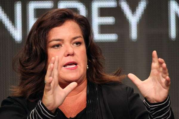 TV show host Rosie O'Donnell speaks during a
