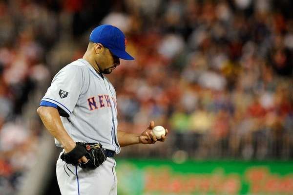 Johan Santana #57 of the New York Mets
