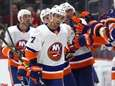 Jordan Eberle of the Islanders celebrates his third-period