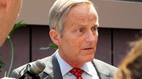Todd Akin takes questions after speaking at the