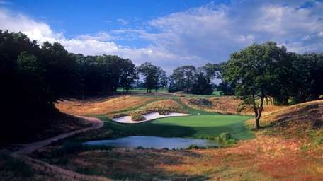 No. 8 hole at Bethpage Black golf course,