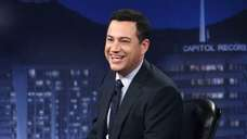 "Jimmy Kimme hosts his late-night show ""Jimmy Kimmel"