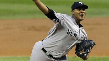Ivan Nova delivers a pitch during the first