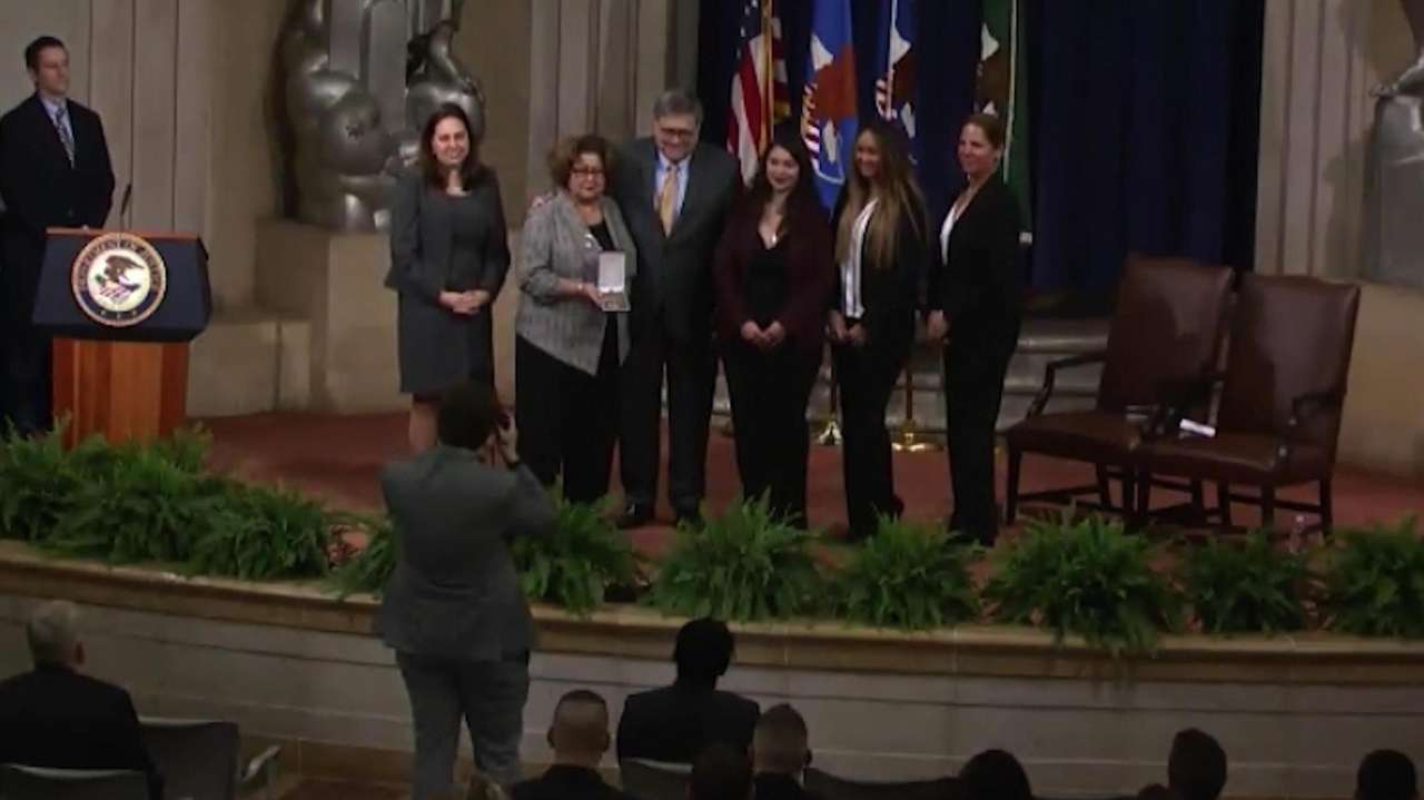 Suffolk County Police Det. William Maldonado was recognized posthumously