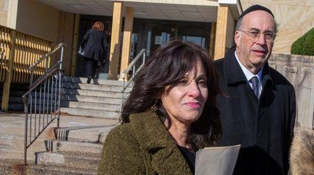Joel and Leah Kaplan, whose daughter Elisheva was