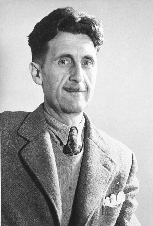 Writer George Orwell poses in this undated photo.