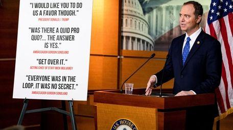 House Intelligence Committee Chairman Adam Schiff speaks about