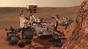 NASA's Curiosity rover zaps a martian rock in
