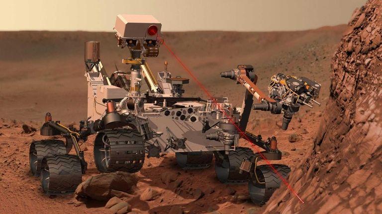 NASA's Curiosity rover zaps a martian rock in