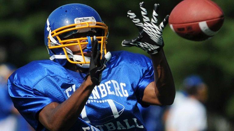 Kellenberg High School's Giovanni Jean makes a catch