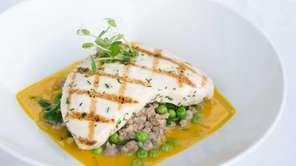 The Plaza Cafe's grilled Montauk swordfish with sweet