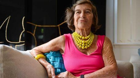 Southampton village resident Evelyn Konrad sits inside her