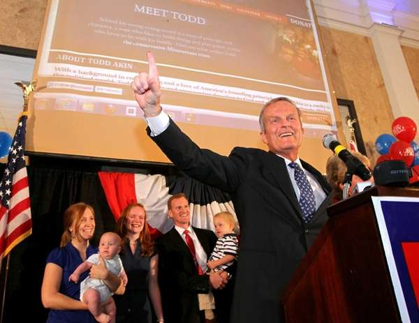 Rep. Todd Akin, GOP Senate candidate from Missouri,