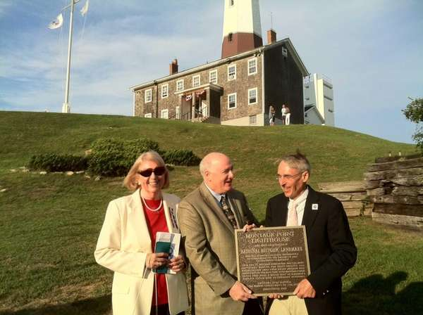 A new plaque designates the Montauk Lighthouse as