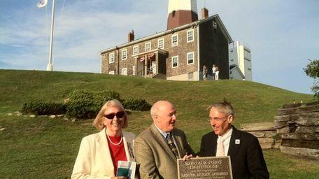 A new plaque designates the Montauk Lighthouse as