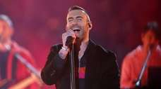 Maroon 5's Adam Levine performs during the band's