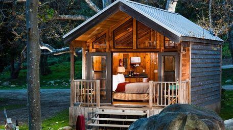 The Creekside Queen Cabin at El Capitan Canyon.