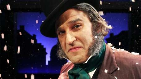 "Jeffrey Sanzel plays Ebenezer Scrooge in ""A Christmas"