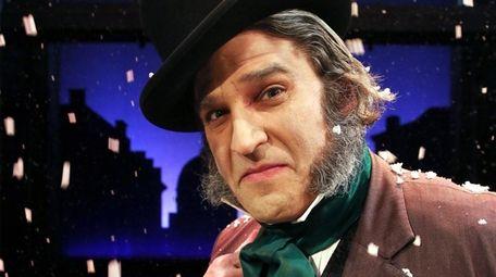 """Jeffrey Sanzel plays Ebenezer Scrooge in """"A Christmas"""