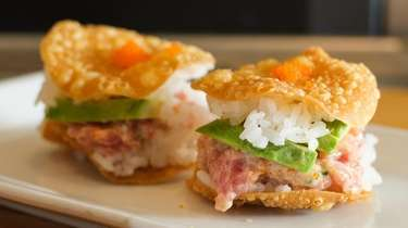 K-Mac sliders are a playful starter of chopped