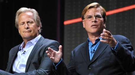 Actor Jeff Daniels, left, and creator and executive