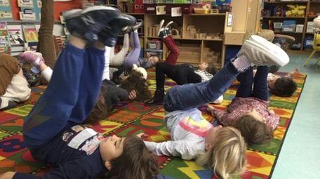 Prekindergartners in Mindy Reyer's class at Sag Harbor