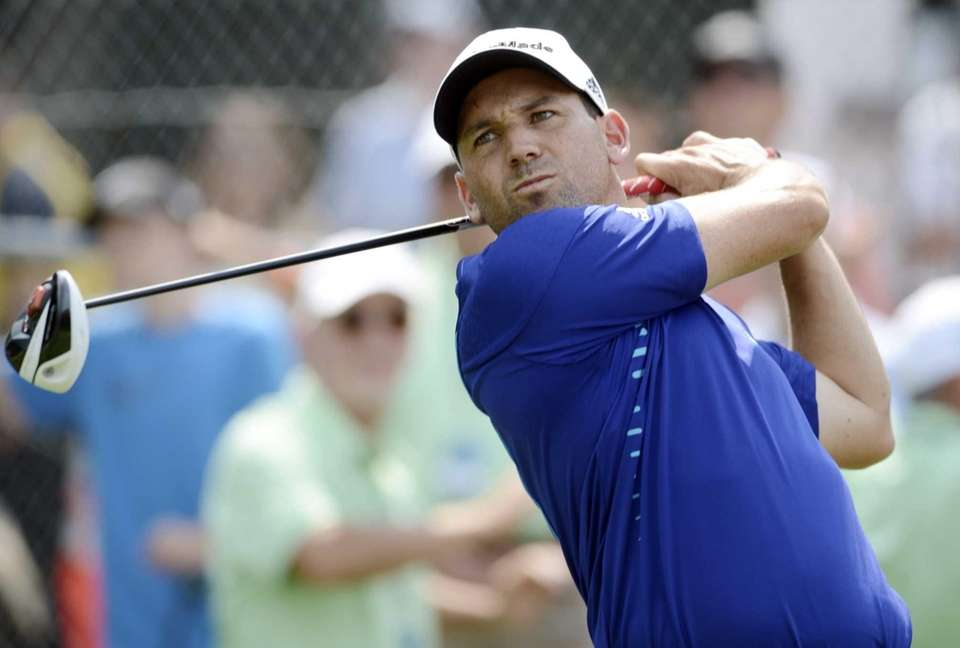 Sergio Garcia of Spain, hits his tee shot