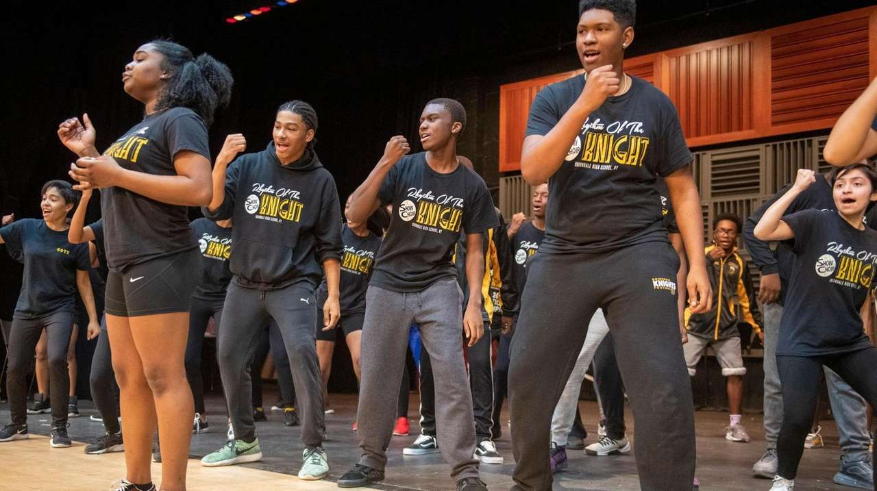 The Uniondale High School show choir's Holiday Spectacular