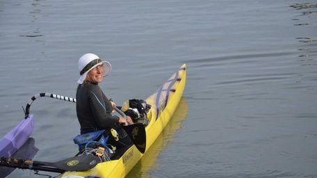 Margo Pellegrino, 45 of New Jersey, sets off