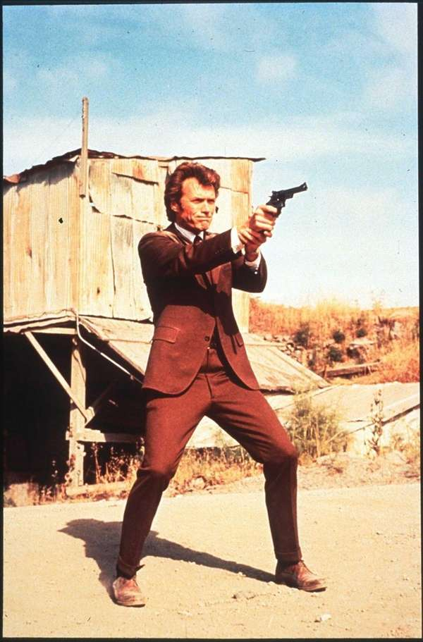 "Clint Eastwood in a scene from ""Dirty Harry."""