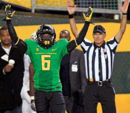 DE'ANTHONY THOMAS, Running back/receiver/punt returner, Oregon Spectacular freshman