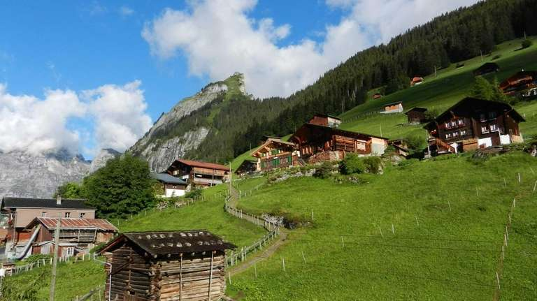 The little village of Gimmelwald, high in the