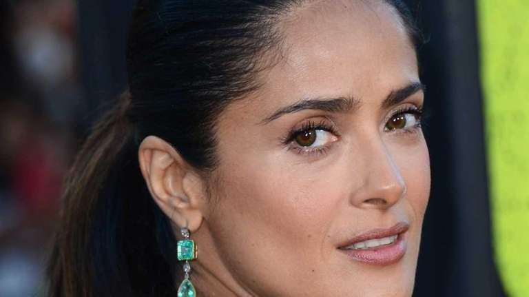 Salma Hayek arrives at the premiere of Universal