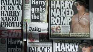 An arrangement of British daily newspapers photographed in