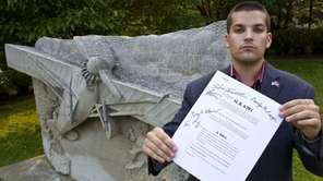 Adam Sackowitz, 20, of Westbury is shown at