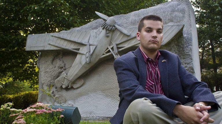 Adam Sackowitz, 20, of Westbury is shown at
