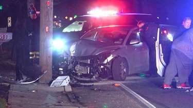 The scene of the crash Wednesday evening in