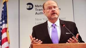 MTA Chairman and CEO Joseph J. Lhota speaks