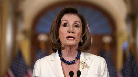 House Speaker Nancy Pelosi (D-Calif.) announces the House