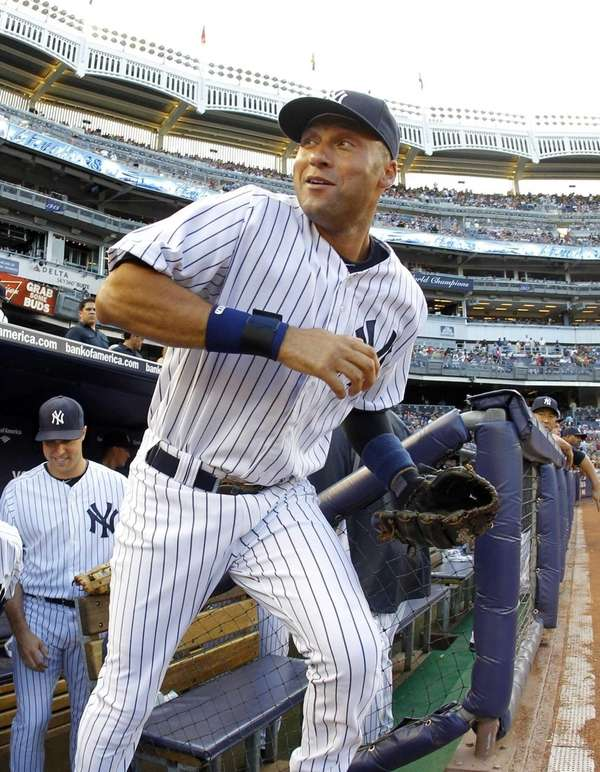 Derek Jeter of the New York Yankees takes