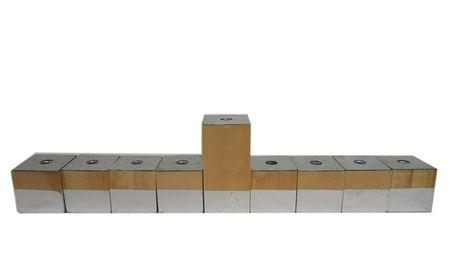 Wood Block Hanukkah Menorah