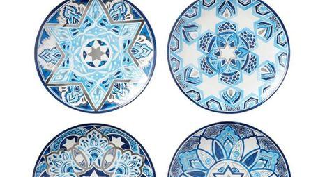 Hanukkah Medallion Salad Plates