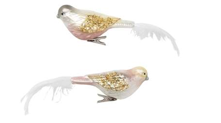 Birds in Blush Gold and Silver