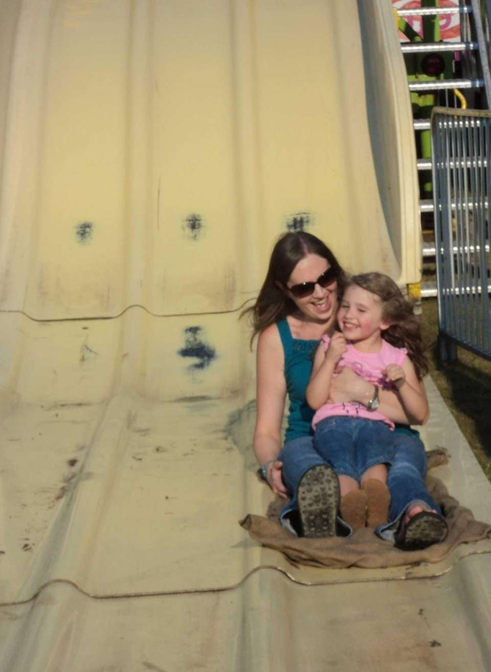 Port Jefferson resident Nicole Richter and her daughter,